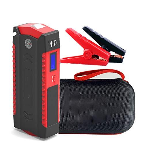 HKIASQ Auto Starthilfe Powerbank (Gasmotors und bis zu 6.0L Diesel Motor) Car Starter Jump Starter Anlasser Tragbare Autobatterie 12V mit Schnellladung