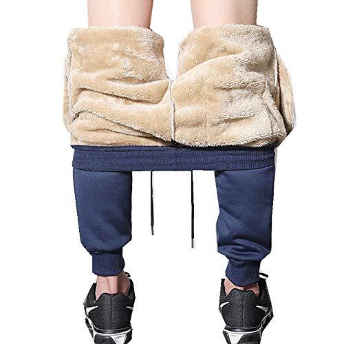 Tammy Yerkes Sportliche Plüschhose für Herren Mit Fleece gefütterte, Dicke Sporthose Beiläufige, lose, warme Jogger-Winter-Jogginghose