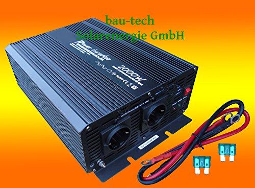 Spannungswandler Solartronics 12V / 2000/4000Watt modifizierter Sinus von bau-tech Solarenergie