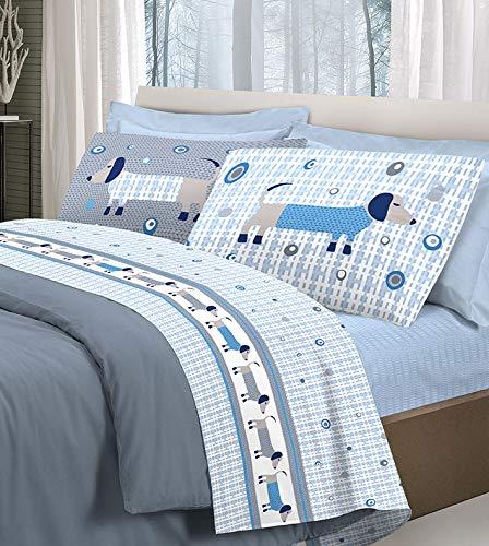 HomeLife Bettwäsche-Set für Einzelbett aus Baumwolle, hergestellt in Italien,...