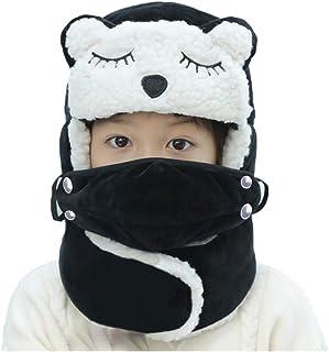 6a63107579 JIAHFR Chapka Bonnet Enfant Ski Snowboard Hiver Bonnet de Russe en Coton  Chapeau Epais avec Masques