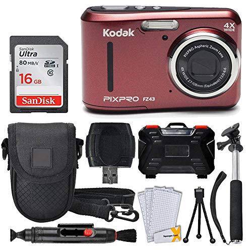 Kodak PIXPRO FZ43 16.15MP Digital Camera with 4X Optical Zoom + SanDisk 16GB Ultra SDHC 80MB/s Memory Card (Class 10) + Point  Georgia