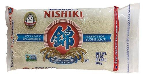 Nishiki Premium Grade Sushi Rice 2lbs Bag (1 Pack)
