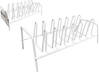 CONFORTIME Organizador De Sartenes Metal Blanco (35,8 X 17,2 X 13,4 Cm)