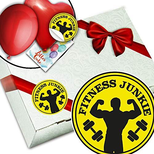 Fitness Junkie + Geschenkbox aus Karton + Fitness Geschenke Frau