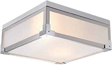 Best square frosted glass ceiling light Reviews