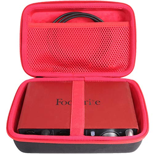 Aenllosi Caja Bolsa Fundas para Focusrite Scarlett 2i2 3rd Gen - Interfaz de audio USB