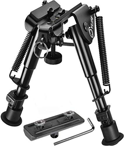 CVLIFE Bipod with Mount Adapter 6-9 Inches Rifle Bipod Include