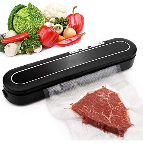Vacuum Sealer,Upgrade'd Automatic Food Sealer with Le'd Indicator Light, Compact Food Vacuum Sealing Machine for Food Storage and Preservation with 10pcs Vacuum Sealer Bags LATT LIV