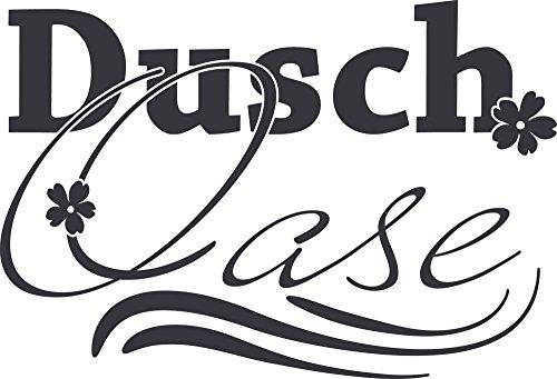 GRAZDesign Wandtattoo Bad für Duschbereich - Wandaufkleber Dusch Oase - Wand-Dekoration Duschaufkleber für Glas/Wand/Fliesen / 84x57cm / 650223_57_073