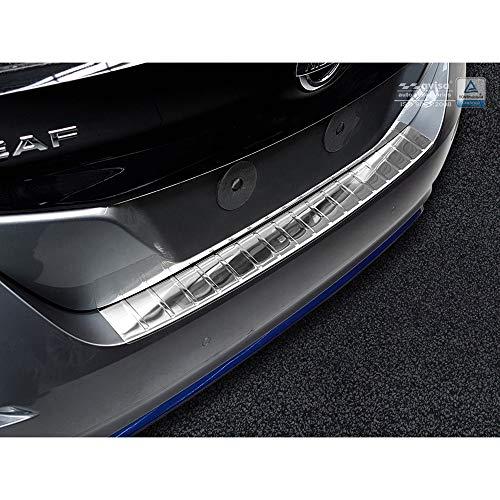 Avisa Protection de seuil arrière inox compatible avec Nissan Leaf II 2017- 'Ribs'
