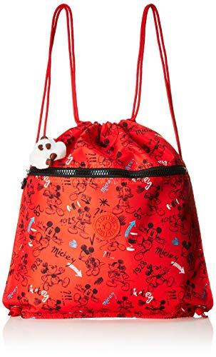 Kipling D SPRTABOO Sac de sport enfant, 45 cm, 15 liters, Multicolore (Sketch Red)