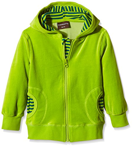 Maxomorra Unisex Baby BASI-M036 Cardigan Hood Circle Strickjacke, Grün, 0-3 Monate