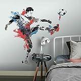 RoomMates RMK2490GM-Pegatinas, diseño Pegatinas de Pared Futbolista Gigante 22 Elementos, Multicolor