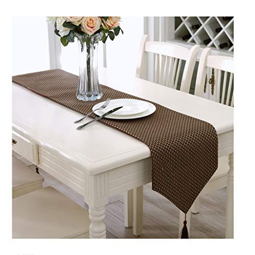 SHENGLI Mantel con bandera de mesa, moderno, moderno, moderno, de lujo, a cuadros, de color sólido, mesa de café (tamaño : 33 x 210 cm)