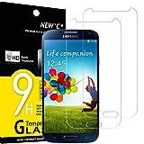 NEW'C Lot de 2, Verre Trempé Compatible avec Samsung Galaxy S4 Film Protection écran sans Bulles...