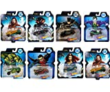 Assorted Bundle of 7 DC Universe Comics Character Car Vehicles Featuring Hot Wheels The Joker Black Manta Aquaman Batman Killer Croc Robin Mear Die Cast Exclusive Collectibles