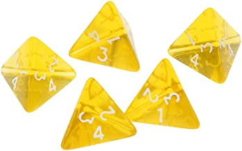 Blesiya Gem Muti Sided Dices Set of 5 D4 Dark Heresy D&D RPG Warhammer Games Yellow