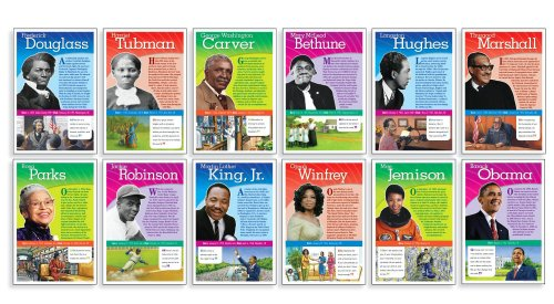 Scholastic Teacher's Friend Notable African Americans Bulletin Board (TF8026), Multiple Colors
