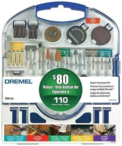 Topics on TV Dremel 709-01 SEAL limited product 110 pc Accessory Super Kit