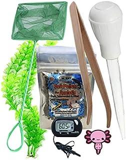 Invert Aquatics Axolotl Starter Kit - Axolotl Food, Feeding Tongs, Digital Thermometer, Large Net & More