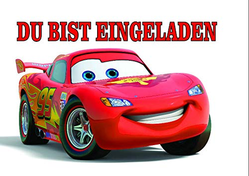 VSW Disney's Pixar Cars Einladungskarten 12er Set inkl. 12 Umschläge M6