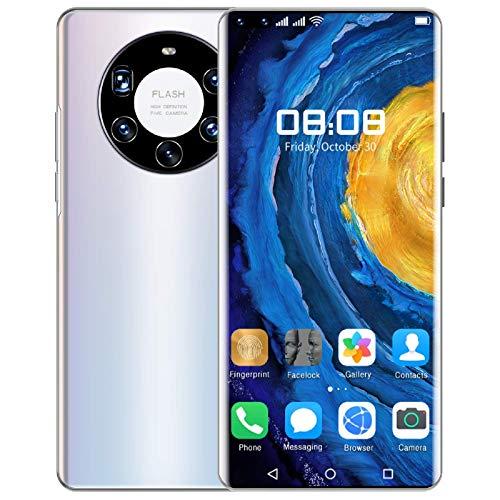 Lenove Teléfono móvil Libres 5G, (2021) Mate40 Pro + Smartphone 12 + 512GB, Pantalla de 7.3 Pulgadas HD +1440 * 3088, 24MP / 50MP AI Quad Camera, Batería de 6000mAh, 5G Dual SIM Android 10.0 Teléfono