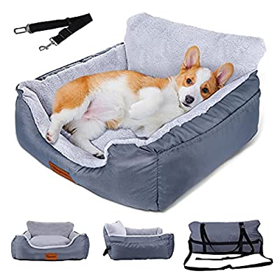 Amazon - 40% Off on Topmart Dog Bed for Car for Small Dogs&Cats,Pet Booster Seat with Seat Belt