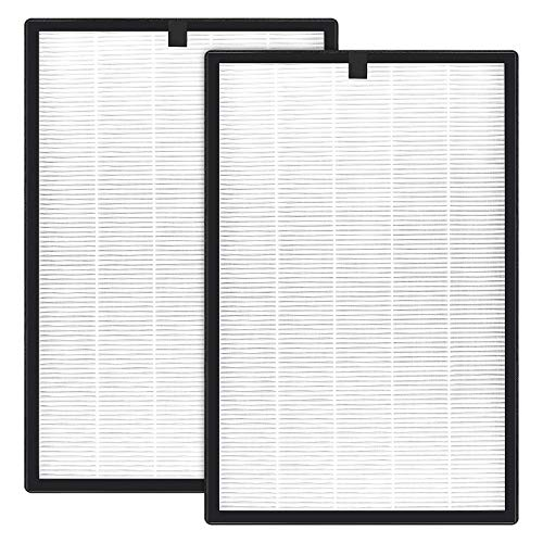 isinlive APH260 True HEPA Filter Replacement 2 Pack Compatible for Airthereal APH260 Air Clean, 3 in 1 HEPA Filter, Activated Carbon Filter and Pre-Filter