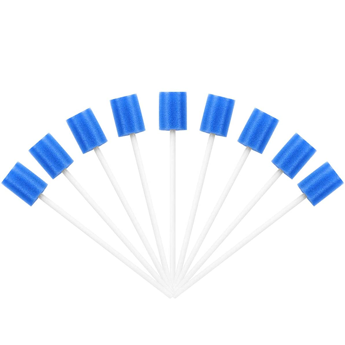 インスタンス曲反対するSUPVOX 100PCS使い捨て可能なオーラルケアスポンジ綿棒歯のクリーニングスポンジ綿棒用口腔クリーニング(ブルー)