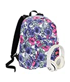 Zaino SEVEN THE DOUBLE - PALETTE - Fiori Fantasia - Cuffie wireless - 2 zaini in 1 REVERSIBILE