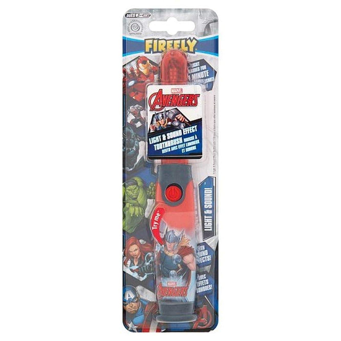 ラベルスクラブ罰[Firefly ] アベンジャーズホタルの光と音の歯ブラシ - Avengers Firefly Light And Sound Toothbrush [並行輸入品]