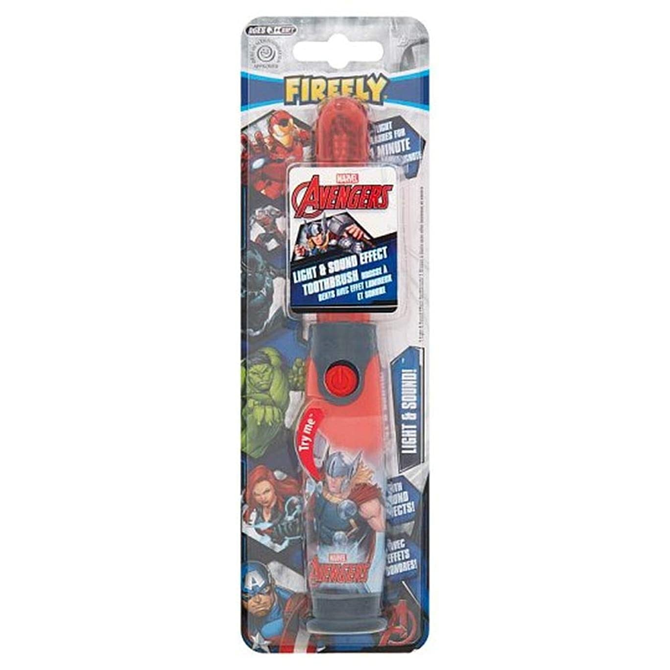 ギャラリー万一に備えてアレキサンダーグラハムベル[Firefly ] アベンジャーズホタルの光と音の歯ブラシ - Avengers Firefly Light And Sound Toothbrush [並行輸入品]