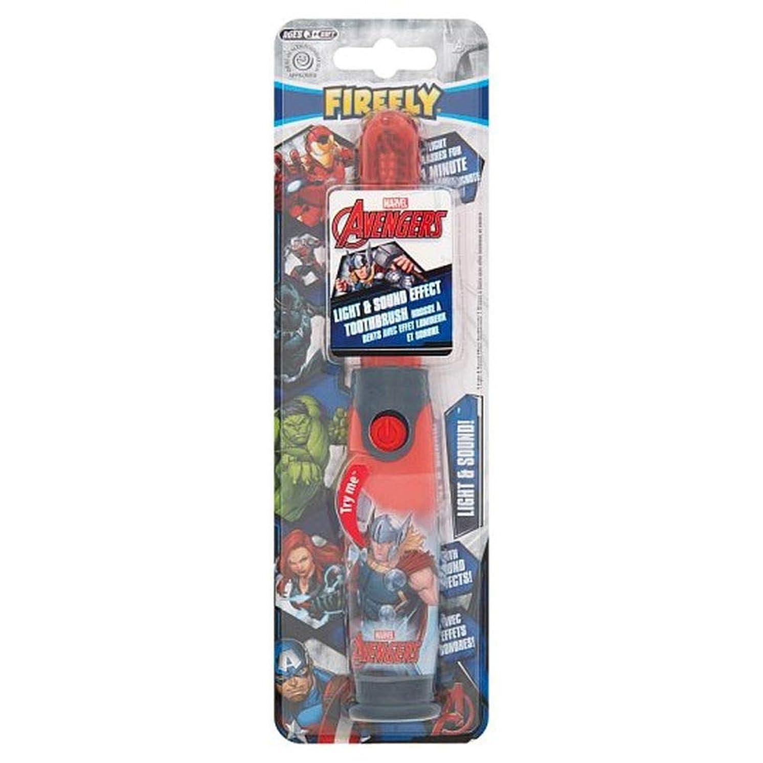 快適阻害する不愉快に[Firefly ] アベンジャーズホタルの光と音の歯ブラシ - Avengers Firefly Light And Sound Toothbrush [並行輸入品]