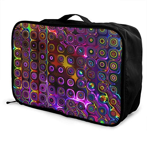 bolsas de maleta Disco Club NEON Lights Young Men and Women School Luggage Bag Lightweight Large...