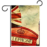 ガーデンサイン庭の装飾屋外バナー垂直旗ビッグベン、ロンドン オールシーズンダブルレイヤー
