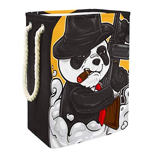 Cestas De Almacenamiento De Juguetes Panda divertido Contenedores De Caja Para Juguetes Para Perros Juguetes Para Niños Ropa De Manta 49x30x40.5 cm