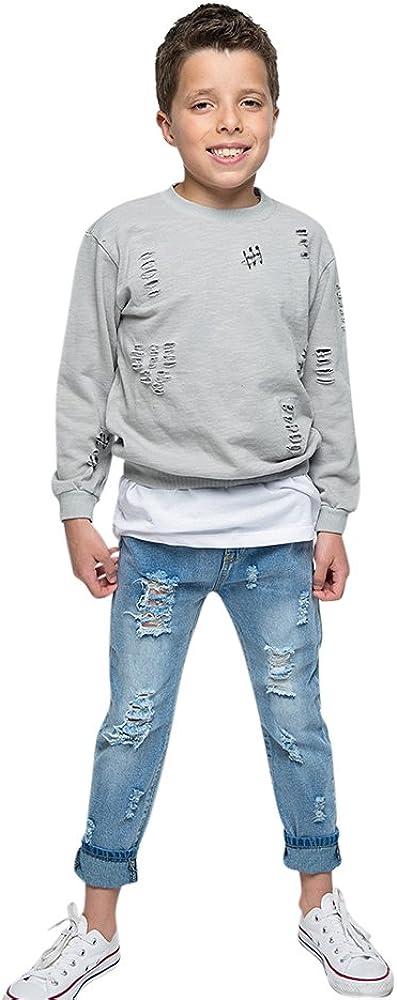 Iconic Distressed Denim Jeans