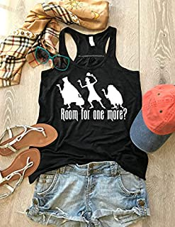 Room For One More. Haunted Mansion Ghost Silhouette. Halloween Tank. Disney Inspired Tank. Women's Eco Flowy Tanks. Women Clothing. Sheering Back Seam.