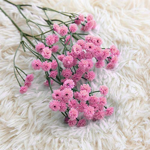 90 Head Artificial Gypsophila Real Touch Baby Breath Realistic Single Fake Bright Small Flowers White Plants for Home Wedding Decoration