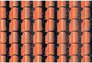 JTT Scenery Products Plastic Pattern Sheets: Spanish Tile