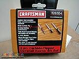 Craftsman Three-piece Carbite-Tipped Dovetail Router Bit Set