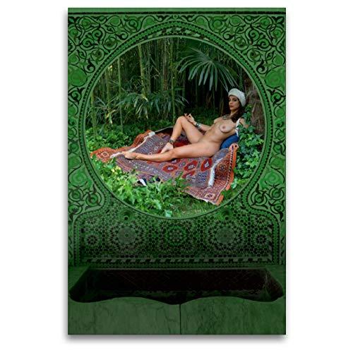 CALVENDO Premium Textil-Leinwand 80 x 120 cm Hoch-Format 592. von 1001 Nacht. List der Männer und Frauen, Leinwanddruck von fru.ch