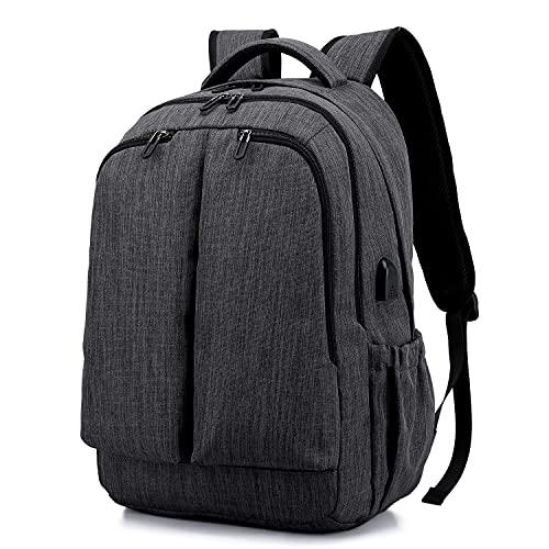 Zaino per laptop da uomo Hongyao, antifurto, 15,6 pollici, con porta di ricarica USB, per viaggi d'affari