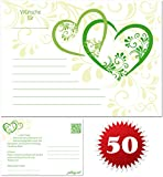 galleryy.net 50 Ballonflugkarten zur Hochzeit GELOCHT, PORTOFREI möglich, Flugkarten für Hochzeitsballons im Set zum Hochzeitsspiel im Ballonflugkartenset - Hochzeit mit Liebe