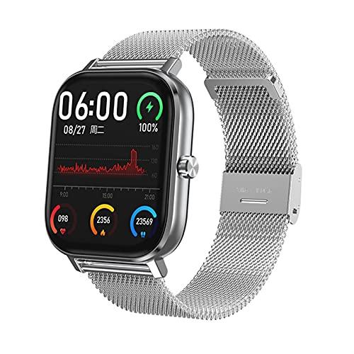 QHG Smart Watch para Android & iOS Ritmo cardíaco Monitor de presión Arterial Monitor de Fitness Tracker Lightweight Step Count Watch Watch (Color : E)