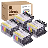 HiServicer 20PK Compatible Ink Cartridge Replacement for Brother LC75 LC71 LC79 LC-75 LC-71 LC-79 XL for MFC J280W J825DW J430W J835DW J625DW J425W J6710DW J280W J5910DW (20PACK - BCMY - 8,4,4,4)
