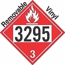 GC Labels-P309c3295, Flammable Class 3 UN3295 Removable Vinyl DOT Placard, Package of 50 Placards