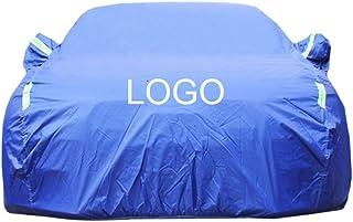 カーカバー に対応フォルクスワーゲンボラ車のカバー車の防水シート車のカバー車のカバー車体カバーカスタムロゴを受け入れるカスタムのカスタム車のカバー (Color : Blue, Size : Plus cotton)