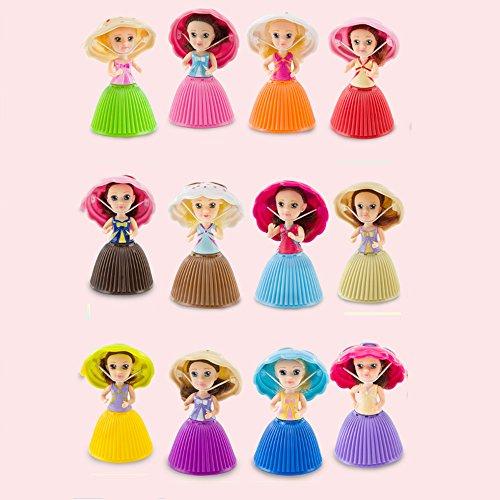 Walmeck- Mode Cartoon Schöne Überraschung Cupcake Prinzessin Puppe Mini Schöne Nette Kuchen Puppe Spielzeug Geburtstagsgeschenk für Mädchen